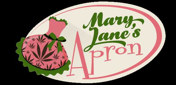 mary janes apron marijuana cooking